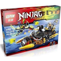Lepin 06015 Bela 10394 Lele 79119 Sheng Yuan 385 SY385 (NOT Lego Ninjago Movie 70733 Blaster Bike ) Xếp hình Xe Phục Kích Hồn Ma Của Cole 223 khối