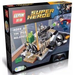 LEPIN 07017 Xếp hình kiểu Lego DC COMICS SUPER HEROES Clash Of The Heroes Hero Conflict đại Chiến Người Dơi Và Siêu Nhân 92 khối