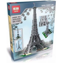 Lepin 17002 Lele 30009 (NOT Lego Creator Expert 10181 Eiffel Tower ) Xếp hình Tháp Eiffel 3478 khối