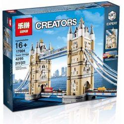 Lepin 17004 Lele 30001 (NOT Lego Creator Expert 10214 Tower Bridge ) Xếp hình Cầu Tháp London 4287 khối