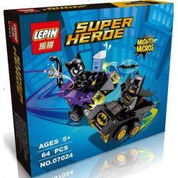 Lepin 07024 (NOT Lego DC Comics Super Heroes 76061 Mighty Micros: Batman Vs. Catwoman ) Xếp hình Người Dơi Đại Chiến Miêu Nữ 92 khối