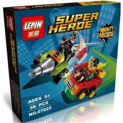 Lepin 07025 (NOT Lego DC Comics Super Heroes 76062 Mighty Micros: Robin Vs. Bane ) Xếp hình Robin Đại Chiến Bane 77 khối