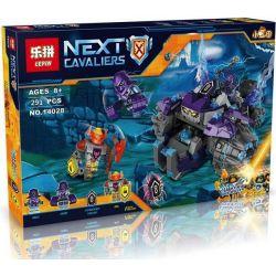 Bela 10595 Lari 10595 LEPIN 14028 SHENG YUAN SY SY864 Xếp hình kiểu Lego NEXO KNIGHTS The Three Brothers Stone Three Brothers Attack Ba Anh Em 266 khối