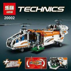 NOT LEGO Technic 42052 Heavy Lift Helicopter, KING 90002 Lele 38008 Lepin 20002 Xếp hình Trực Thăng Vận Tải Hạng Nặng 1042 khối có động cơ pin