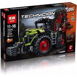 Lepin 20009 (NOT Lego Technic 42054 Claas Xerion 5000 Trac Vc ) Xếp hình Máy Kéo Có Tay Gắp Động Cơ Pin 1977 khối