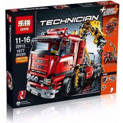 NOT LEGO Technic 8258 Crane Truck, Lepin 20013 Xếp hình Xe Tải Có Cần Cẩu Nhỏ 1877 khối có động cơ pin
