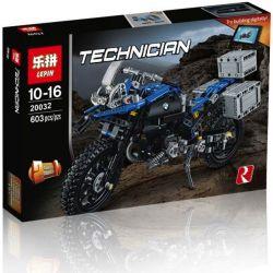 Lepin 20032 Decool 3369A 3369B Lele 38022 (NOT Lego Technic 42063 Bmw R 1200 Gs Adventure ) Xếp hình Mô Tô Phân Khối Lớn Bmw R1200Gs Adventure Xanh Da Trời, Đỏ 603 khối