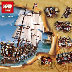 NOT LEGO Creator Expert 10210 Imperial Flagship, KAKU 19003 K19003 KK19003 KING 83038 Lele 39010 Lepin 22001 Lion King 180056 Sheng Yuan SY SY1201 Xếp hình tàu chiến hoàng gia 1664 khối điều khiển từ