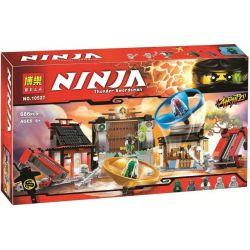NOT Lego THE LEGO NINJAGO MOVIE 70590 Airjitzu Battle Grounds, Bela 10527 Lari 10527 LELE 79349 LEPIN 06033 Xếp hình đấu Trường Ninja 666 khối