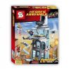 Decool 7114 Lepin 07016 Lele 79128 Sheng Yuan 370 SY370 1180 SY1180 1349 SY1349 (NOT Lego Marvel Super Heroes 76038 Attack On Avengers Tower ) Xếp hình Tấn Công Trụ Sở Biệt Đội Siêu Anh Hùng gồm 3 hộp