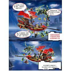 NOT LEGO The Lego Ninjago Movie 70738 Final Flight of Destiny's Bounty, BELA LARI 10402 Lele 79125 Lepin 06020 QUEEN 89008 Sheng Yuan SY 393 SY393 Xếp hình Chuyến Bay Cuối Của Phi Thuyền Chỉ Huy 1253