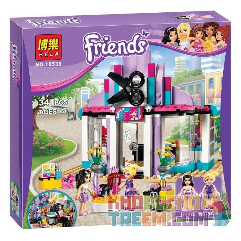 NOT LEGO Friends 41093 Heartlake Hair Salon, BELA LARI 10539 Lele 79162 Sheng Yuan SY 378 SY378 Xếp hình Salon Làm Tóc 318 khối