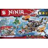 Lepin 06028 Bela 10462 Lele 79233 (NOT Lego Ninjago Movie 70605 Misfortune's Keep ) Xếp hình Tấn Công Tàu Bay Hải Tặc 808 khối