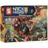 Lepin 14003 Bela 10481 Sheng Yuan 561 SY561 Lele 79237 (NOT Lego Nexo Knights 70313 Moltor's Lava Smasher ) Xếp hình Chiến Xa Nham Thạch Hủy Diệt Của Moltor 203 khối