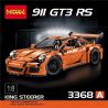 Decool 3368 3368A 3368B 3368C Lepin 20001 20001B 20001C Bela 10570 Lele 38004 Yile 911A (NOT Lego Technic 42056 Porsche 911 Gt3 Rs ) Xếp hình Siêu Xe Trắng Cam Xanh Lá 2704 khối
