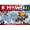Lepin 06029 Bela 10448 Sheng Yuan 540 SY540 Lele 79231 (NOT Lego Ninjago Movie 70603 Raid Zeppelin ) Xếp hình Tấn Công Khinh Khí Cầu Hải Tặc 318 khối
