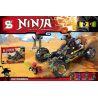Lepin 06032 Bela 10524 Sheng Yuan 594 SY594 (NOT Lego Ninjago Movie 66548 Rock Roader, Extra Awesome Edition ) Xếp hình Siêu Xe Địa Hình Của Cole Rx 443 khối