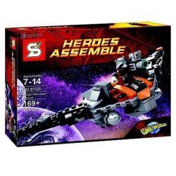 Decool 7107 Jisi 7107 SHENG YUAN SY 326 SY326 Xếp hình kiểu Lego MARVEL SUPER HEROES Rocket Raccoon's Warbird Galaxy Guards Raccoon Fighter Phi Thuyền Vệ Binh Dải Ngân Hà 145 khối