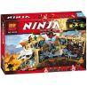 Lepin 06039 Bela 10530 Lele 79348 Sheng Yuan 595 SY595 (NOT Lego Ninjago Movie 70596 Samurai X Cave Chaos ) Xếp hình Hỗn Chiến Hang Võ Sỹ 1351 khối
