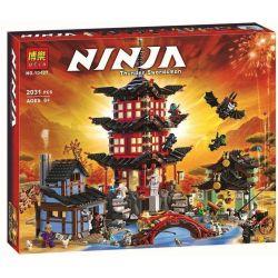 NOT Lego THE LEGO NINJAGO MOVIE 70751 Temple Of Airjitzu, Bela 10427 Lari 10427 LELE 79247 LEPIN 06022 LION KING 180088 QUEEN 89009 Xếp hình đền Tập Luyện Của Ninja 2028 khối