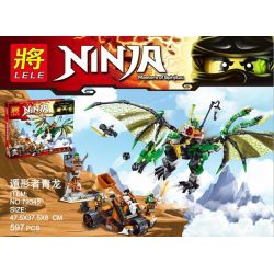 NOT Lego THE LEGO NINJAGO MOVIE 70593 The Green NRG Dragon, Bela 10526 Lari 10526 LELE 79345 LEPIN 06036 SHENG YUAN SY SY592 Xếp hình Rồng Xanh Lá của Lloyd 567 khối