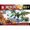 Lepin 06036 Lele 79345 Sheng Yuan 592 SY592 Bela 10526 (NOT Lego Ninjago Movie 70593 The Green Nrg Dragon ) Xếp hình Rồng Xanh Lá Của Lloyd 618 khối