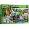 Lepin 18001 Bela 10468 Lele 79280 (NOT Lego Minecraft 21123 The Iron Golem ) Xếp hình Hộ Vệ Sắt Khổng Lồ 208 khối