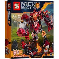 NOT Lego NEXO KNIGHTS 70327 The King's Mech, Bela 10487 Lari 10487 LELE 79246 LEPIN 14008 SHENG YUAN SY SY565 Xếp hình Robot Hiệp Sĩ Của Nhà Vua 375 khối