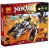 Lepin 06038 Bela 10529 Lele 79347 Sheng Yuan 593 SY593 Blx 81616 Zhilexing 91075 (NOT Lego Ninjago Movie 70595 Ultra Stealth Raider ) Xếp hình Cỗ Xe Chiến Đấu Tàng Hình 1167 khối
