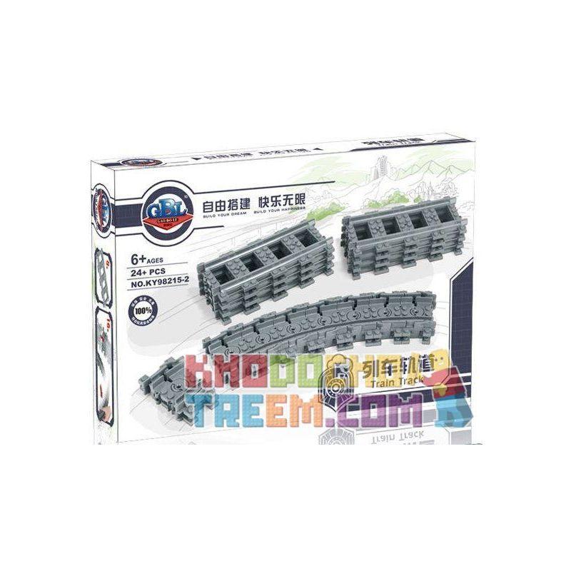 Kazi KY98215-2 (NOT Lego City 7499 Flexible And Straight Tracks ) Xếp hình Bộ Ray Tàu Hỏa Cong Và Thẳng 24 khối