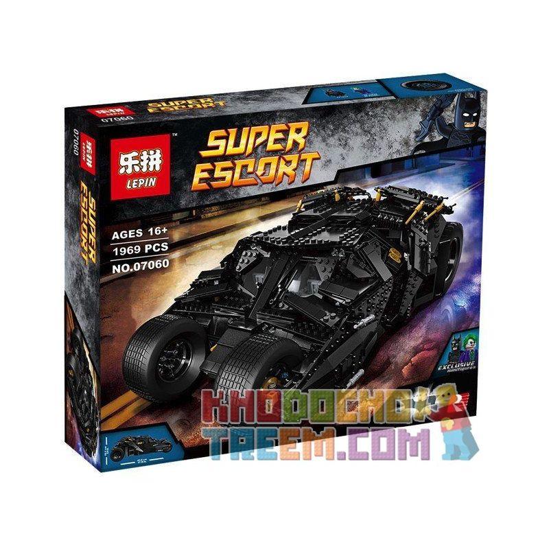 NOT Lego DC COMICS SUPER HEROES 76023 The Tumbler, Decool 7111 Jisi 7111 KING 87041 LELE 34005 LEPIN 07060 LION KING 180082 Xếp hình siêu xe Tumbler của người Dơi 1869 khối