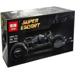Decool 7115 Lepin 07061 (NOT Lego DC Comics Super Heroes 5004590 Bat-Pod ) Xếp hình Siêu Mô Tô Của Người Dơi 338 khối