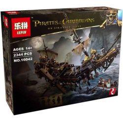 Lepin 16042 Bela 10680 Sheng Yuan 1200 SY1200 Leji LJ99024 (NOT Lego Pirates of the Caribbean 71042 Silent Mary ) Xếp hình Con Tàu Ma Sự Im Lặng Của Mary 2344 khối
