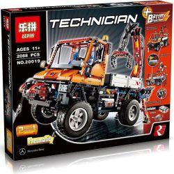 Lepin 20019 (NOT Lego Technic 8110 Mercedes-Benz Unimog U 400 ) Xếp hình Xe Tải Nhỏ Có Cần Cẩu Unimog U400 Động Cơ Pin 2088 khối
