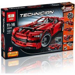 NOT Lego TECHNIC 8070 Super Car Super Sports Car , LEPIN 20028 Xếp hình Siêu Xe 1281 khối có động cơ pin