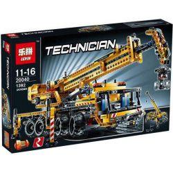 NOT Lego TECHNIC 8053 Mobile Crane , LEPIN 20040 Xếp hình Cần Trục Di động 1289 khối
