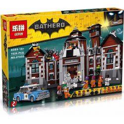Bela 10741 Lari 10741 LEPIN 07055 Xếp hình kiểu THE LEGO BATMAN MOVIE Arkham Asylum Akam Mad Nhà Tù Arkham Asylum 1628 khối