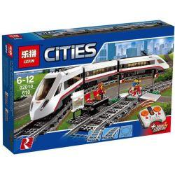 Lepin 02010 (NOT Lego City 60051 High-Speed Passenger Train ) Xếp hình Tàu Cao Tốc Điều Khiển Từ Xa 610 khối