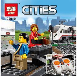 NOT Lego CITY 60051 High-speed Passenger Train, LELE 28031 LEPIN 02010 WHITE BOX 40015 Xếp hình Tàu Cao Tốc điều Khiển Từ Xa 610 khối điều khiển từ xa