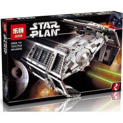 LEPIN 05055 Xếp hình kiểu Lego STAR WARS Vader's TIE Advanced Dasvid's Titanium Phi Thuyền TIE Cao Cấp Của Vader 1212 khối