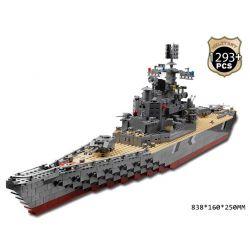 Kazi KY82012 (NOT Lego Military Army German Bismarck Battleship ) Xếp hình Tàu Chiến Phát Xít Đức Bismarck 1297 khối