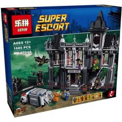 Decool 7124 Jisi 7124 LEPIN 07044 Xếp hình kiểu Lego DC COMICS SUPER HEROES Batman Arkham Asylum Breakout Batman Akam Drainage Garden Người Dơi Vượt Ngục Arkham Asylum 1619 khối