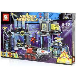 SHENG YUAN SY SY513 Xếp hình kiểu Lego DC COMICS SUPER HEROES The Batcave Bat Hole Hang Dơi 690 khối