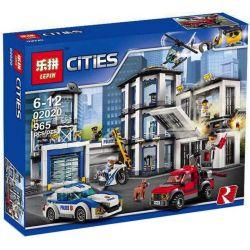 Lepin 02020 Lele 39058 (NOT Lego City 60141 Police Station ) Xếp hình Đồn Cảnh Sát 965 khối