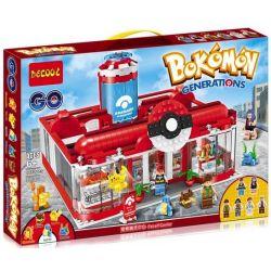 Decool 18001 Jisi 18001 Xếp hình kiểu Lego POKÉMON Pokemon Pet Elf Center Trung Tâm Y Tế Pikachu 1280 khối