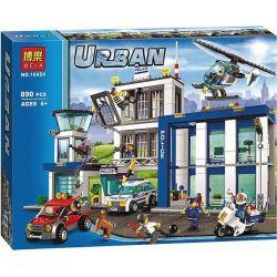 NOT Lego CITY 60047 Police Station Police General Administration , Bela 10424 Lari 10424 LELE 39059 Xếp hình Đồn Cảnh Sát 854 khối