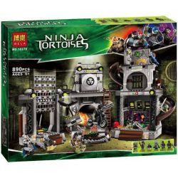 Bela 10278 Lari 10278 Xếp hình kiểu Lego TEENAGE MUTANT NINJA TURTLES Turtle Lair Invasion Ninja Turtle Turtle Nest Invasion Đột Kích Căn Cứ Của Ninja Rùa 888 khối