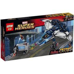 Sheng Yuan 359 SY359 Lele 79129 Lepin 07015 (NOT Lego Marvel Super Heroes 76032 The Avengers Quinjet City Chase ) Xếp hình Siêu Anh Hùng Và Phi Thuyền Đuổi Bắt Trong Thành Phố 781 khối