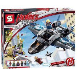 SHENG YUAN SY SY327 Xếp hình kiểu Lego MARVEL SUPER HEROES Quinjet Aerial Battle Air Battle Trận Chiến Trên Không Của Phi Thuyền Siêu Anh Hùng 735 khối