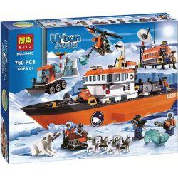 NOT Lego CITY 60062 Polar Arctic Icebreaker , Bela 10443 Lari 10443 Xếp hình Tàu Phá Băng Vùng Cực 717 khối